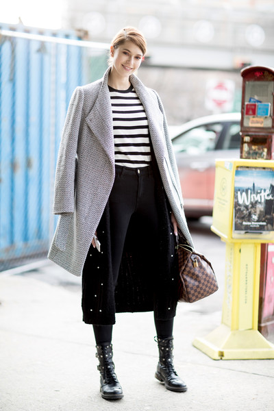 info for 8191b 37968 Moto Boots - Creative Winter Outfit Ideas From NYFW Street ...
