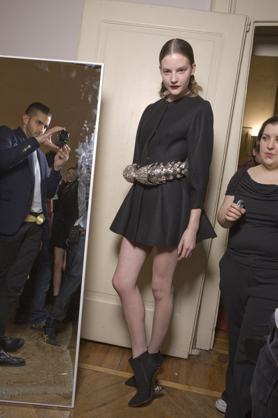 Francesco Scognamiglio at Milan Fall 2010 (Backstage)