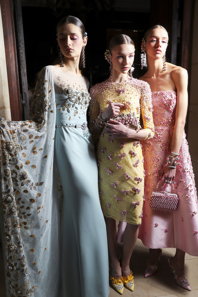 Backstage at Georges Hobeika Couture Spring 2017
