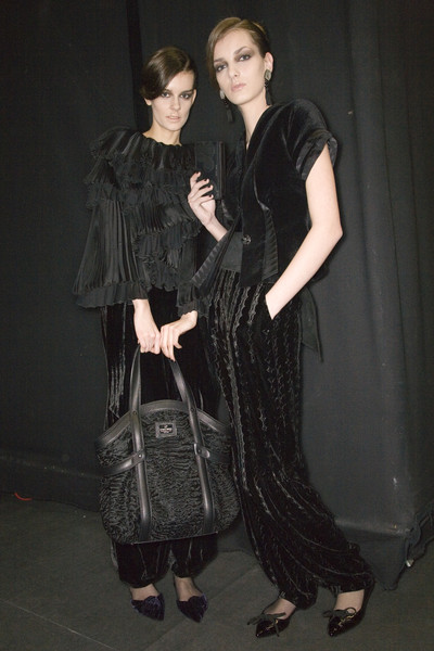 Giorgio Armani at Milan Fall 2008 (Backstage)