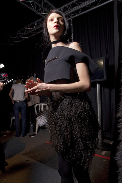 Givenchy at Paris Fall 2010 (Backstage)