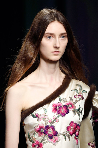 Gucci at Milan Fall 2016 (Details) [fashion model,hair,fashion,beauty,shoulder,hairstyle,lip,model,haute couture,long hair,vivienne westwood,model,fashion,haute couture,fashion model,hair,runway,gucci,milan fashion week,fashion show,vivienne westwood,runway,fashion,gucci,fashion show,model,haute couture]