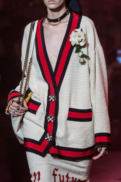 Gucci at Milan Spring 2017 (Details) [fashion,clothing,outerwear,sweater,street fashion,cardigan,photography,fashion design,jacket,top,cardigan,celine,fashion,clothing,street fashion,photography,fashion design,jacket,gucci,milan fashion week,gucci,fashion,clothing,ready-to-wear,milan fashion week,celine,cardigan]