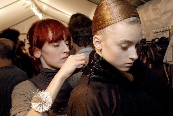 Haider Ackermann at Paris Fall 2007 (Backstage)