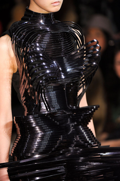 Iris Van Herpen at Couture Spring 2012 (Details) [fashion model,fashion,latex clothing,haute couture,clothing,runway,latex,fashion show,fetish model,corset,fashion designer,supermodel,fashion,runway,haute couture,clothing,model,fashion model,couture spring,fashion show,haute couture,runway,fashion,fashion show,fashion designer,supermodel,model,viktor rolf,clothing,beauty]