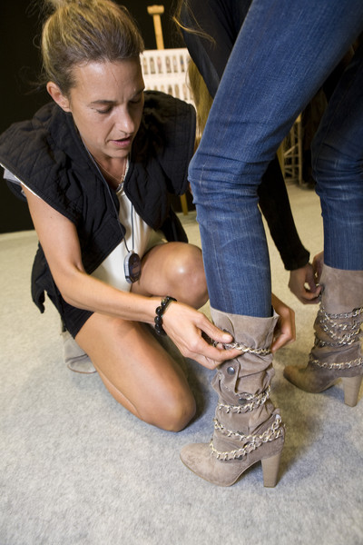 Isabel Marant at Paris Spring 2009 (Backstage)
