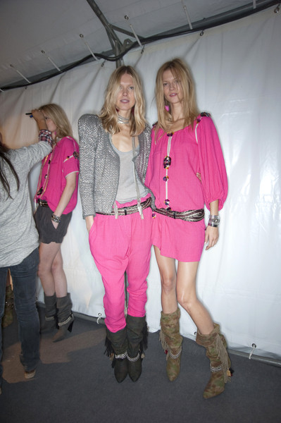 Isabel Marant at Paris Spring 2010 (Backstage)