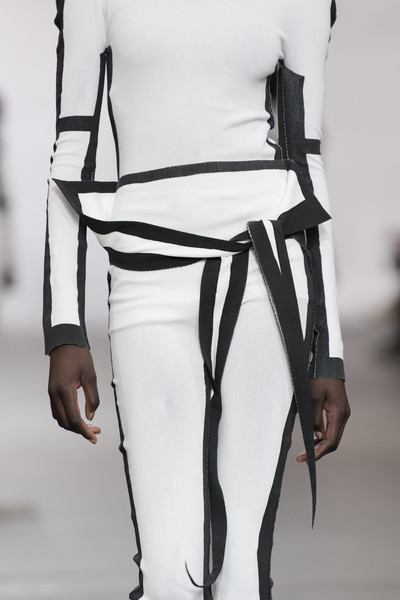 Issey Miyake at Paris Fall 2020 (Details) [autumn,white,clothing,fashion,leg,shoulder,fashion design,black-and-white,joint,footwear,human leg,issey miyake,fashion,clothing,intimo,vogue,lyocell,white,vogue australia,paris fashion week,fashion,intimo,ready-to-wear,vogue australia,clothing,autumn,winter,vogue,lyocell,environmentally friendly]