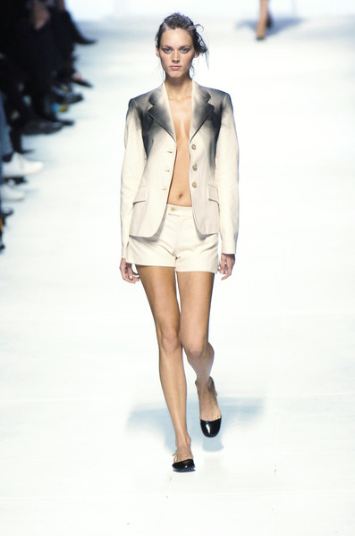 Issey Miyake at Paris Spring 2005 [fashion model,fashion,fashion show,runway,white,clothing,outerwear,public event,blazer,shorts,supermodel,issey miyake,fashion,runway,model,fashion model,haute couture,clothing,paris fashion week,fashion show,runway,fashion show,model,supermodel,fashion,haute couture]