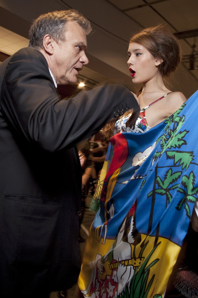Jean-Charles de Castelbajac at Paris Spring 2010 (Backstage)