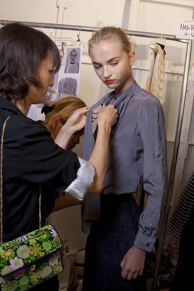 Jill Stuart at New York Spring 2011 (Backstage)