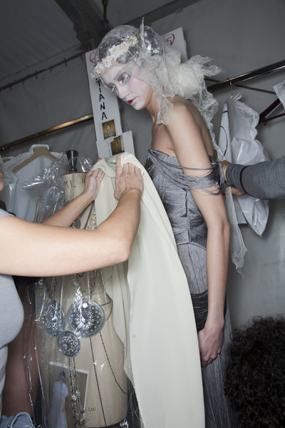 John Galliano at Paris Fall 2009 (Backstage)