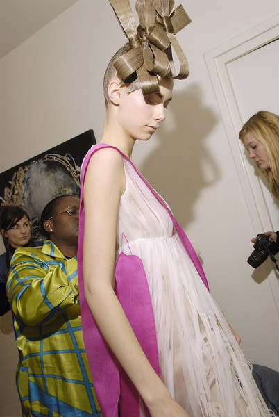 Josep Font at Couture Spring 2008 (Backstage)