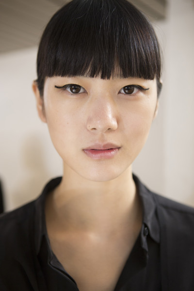 Lanvin at Paris Spring 2018 (Backstage) [portrait photography,portrait,hair,face,hairstyle,forehead,eyebrow,chin,bangs,head,beauty,black hair,bangs,hair,photography,hairstyle,face,beauty,lanvin,paris fashion week,portrait photography,portrait,bangs,photography,beauty.m]