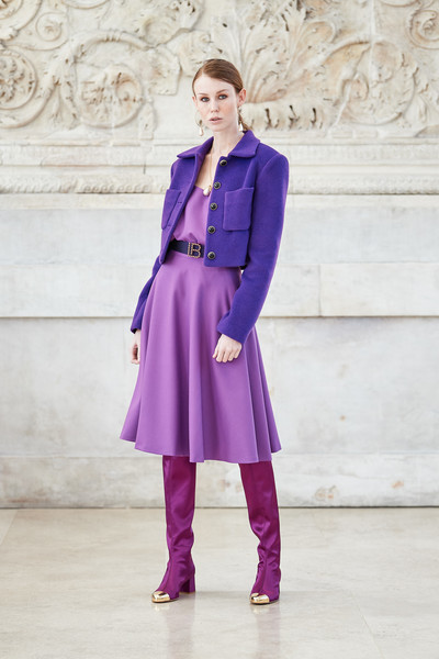 Laura Biagiotti at Milan Fall 2021 [footwear,leg,purple,sleeve,street fashion,waist,knee,collar,dress,pink,dress,shoe,coat,fashion,photo shoot,clothing,haute couture,street fashion,milan fashion week,fashion show,fashion show,coat,fashion,clothing,haute couture,dress,photo shoot,shoe,cobalt blue / m,model m keyboard]