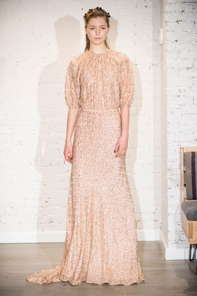 Lela Rose at New York Fall 2017 [clothing,dress,gown,fashion model,fashion,haute couture,bridal party dress,wedding dress,neck,bridal clothing,dress,party dress,gown,wedding dress,fashion,fashion week,clothing,runway,new york fashion week,fashion show,fashion show,runway,fashion week,wedding dress,paris fashion week,dress,fashion,chanel]