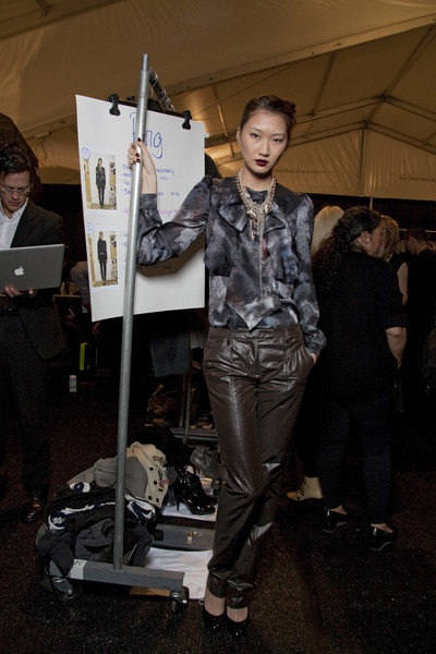 Luca Luca at New York Fall 2010 (Backstage)