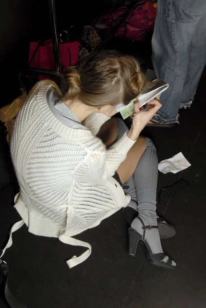 Luciano Soprani at Milan Spring 2007 (Backstage)