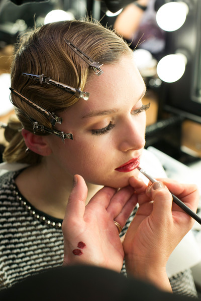 Luisa Beccaria at Milan Fall 2013 (Backstage)