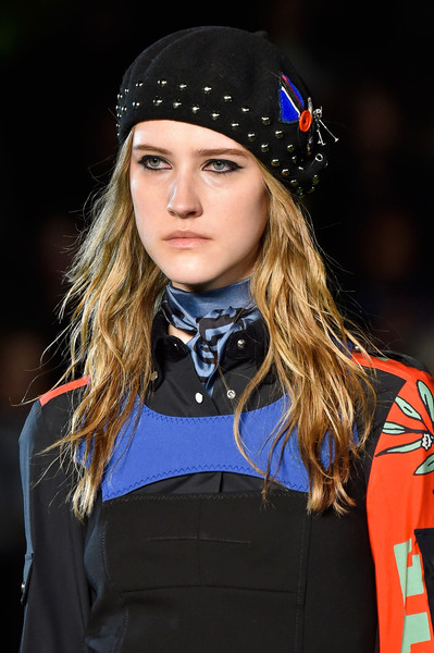 Marc by Marc Jacobs at New York Fall 2015 (Details) [fashion,beauty,runway,lip,headgear,model,fashion show,long hair,electric blue,street fashion,socialite,marc by marc jacobs,hair,model,fashion,runway,hair,capital asset pricing model,hat,new york fashion week,hair m,hat,runway,model,socialite,fashion,long hair,blond,capital asset pricing model,hair]