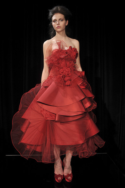 Marchesa at New York Fall 2010 [dress,clothing,fashion model,gown,fashion,red,strapless dress,cocktail dress,haute couture,formal wear,dress,gown,dress,cocktail dress,fashion,clothing,marchesa,model,new york fashion week,fashion show,dress,fashion,gown,marchesa,clothing,fashion show,new york fashion week,runway,model]