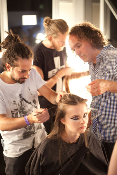 Marios Schwab at London Spring 2013 (Backstage)