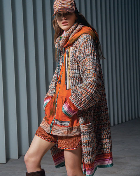 Missoni at Milan Fall 2021 [shoulder,tartan,black,street fashion,fashion,orange,neck,textile,sleeve,waist,outerwear,bikini top,fashion,costume,street fashion,pattern,0jc,missoni,dos gardenias stein square,milan fashion week,fashion,costume,outerwear / m,0jc,dos gardenias stein square neck bralette bikini top,pattern,outerwear,model m keyboard]