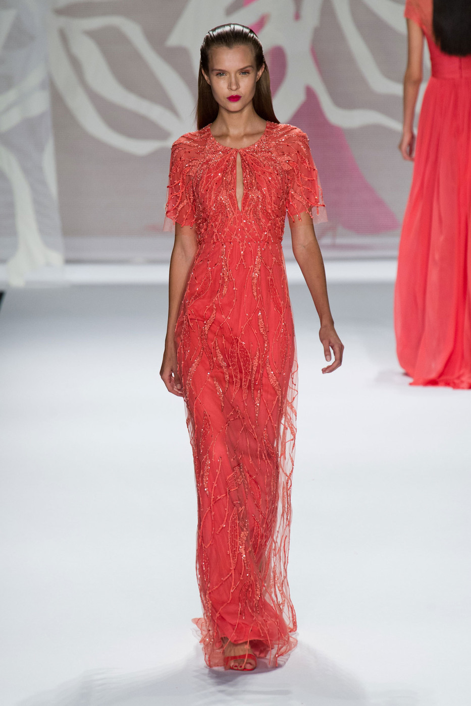 Monique Lhuillier At New York Fashion Week Spring 2014