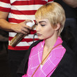 Backstage at Moschino