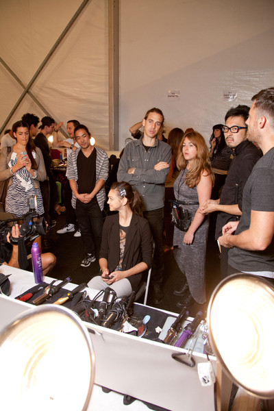 Nanette Lepore at New York Spring 2013 (Backstage)