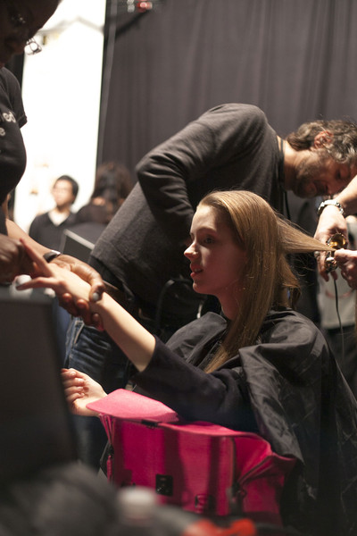 Narciso Rodriguez at New York Fall 2013 (Backstage)