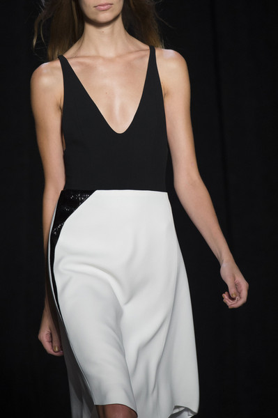 Narciso Rodriguez at New York Spring 2015 (Details) [fashion model,clothing,white,fashion,fashion show,dress,neck,shoulder,runway,leg,supermodel,narciso rodriguez,fashion,runway,model,fashion week,fashion design,white,new york fashion week,fashion show,runway,fashion show,fashion,model,ready-to-wear,fashion design,supermodel,fashion week,haute couture]
