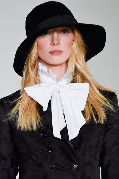 Ralph Lauren at New York Fall 2016 (Details) [clothing,hair,hat,fashion accessory,headgear,fedora,bow tie,costume accessory,tie,formal wear,fashion accessory,supermodel,diane von furstenberg,women jacqueline de,fashion,headgear,model,hat,new york fashion week,ralph lauren,diane von furstenberg,fashion,ralph lauren corporation,supermodel,model,women jacqueline de yong riise long sleeve v-neck dress,cfda fashion awards,council of fashion designers of america,headgear]