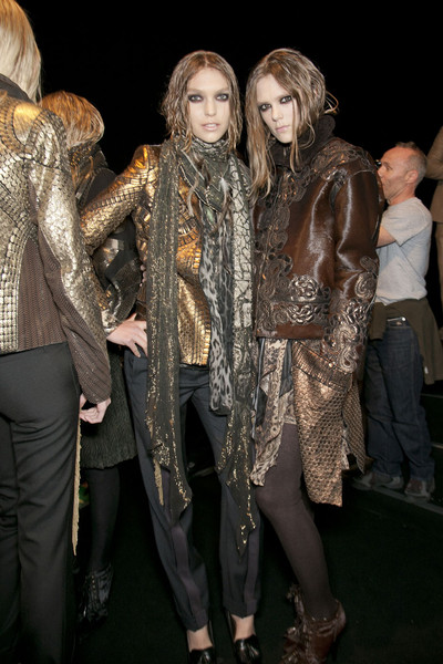 Roberto Cavalli at Milan Fall 2011 (Backstage)