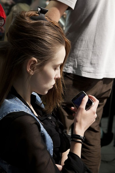 Roberto Musso at Milan Fall 2012 (Backstage)