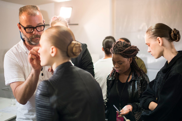 Schiaparelli at Couture Fall 2016 (Backstage) [skin,hairstyle,event,eyewear,fashion,design,vision care,glasses,photography,fashion design,elsa schiaparelli,art director,couture fall,glasses,conversation,seam,skin,hairstyle,flat,fashion show,elsa schiaparelli,fashion show,art director,autumn,glasses,flat,conversation,winter,seam]