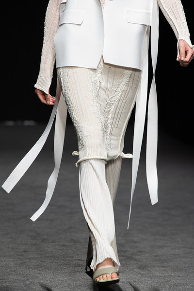Simona Marziali at Milan Spring 2021 (Details) [clothing,white,fashion,leg,suit,trousers,outerwear,haute couture,fashion model,footwear,shoe,simona marziali,fashion,haute couture,runway,wear,tights,abdomen,suit,milan fashion week,shoe,runway,haute couture,fashion,formal wear,stx it20 risk.5rv nr eo,tights,abdomen,model]