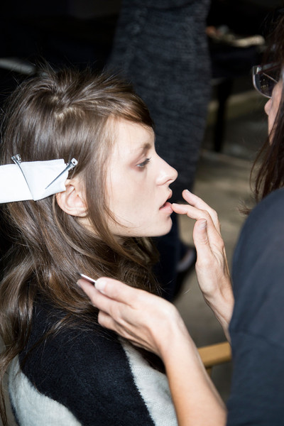 Simonetta Ravizza at Milan Spring 2016 (Backstage)