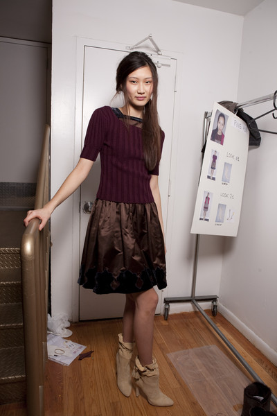 Sophie Theallet at New York Fall 2010 (Backstage)