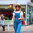 Quirky Hat + Overalls