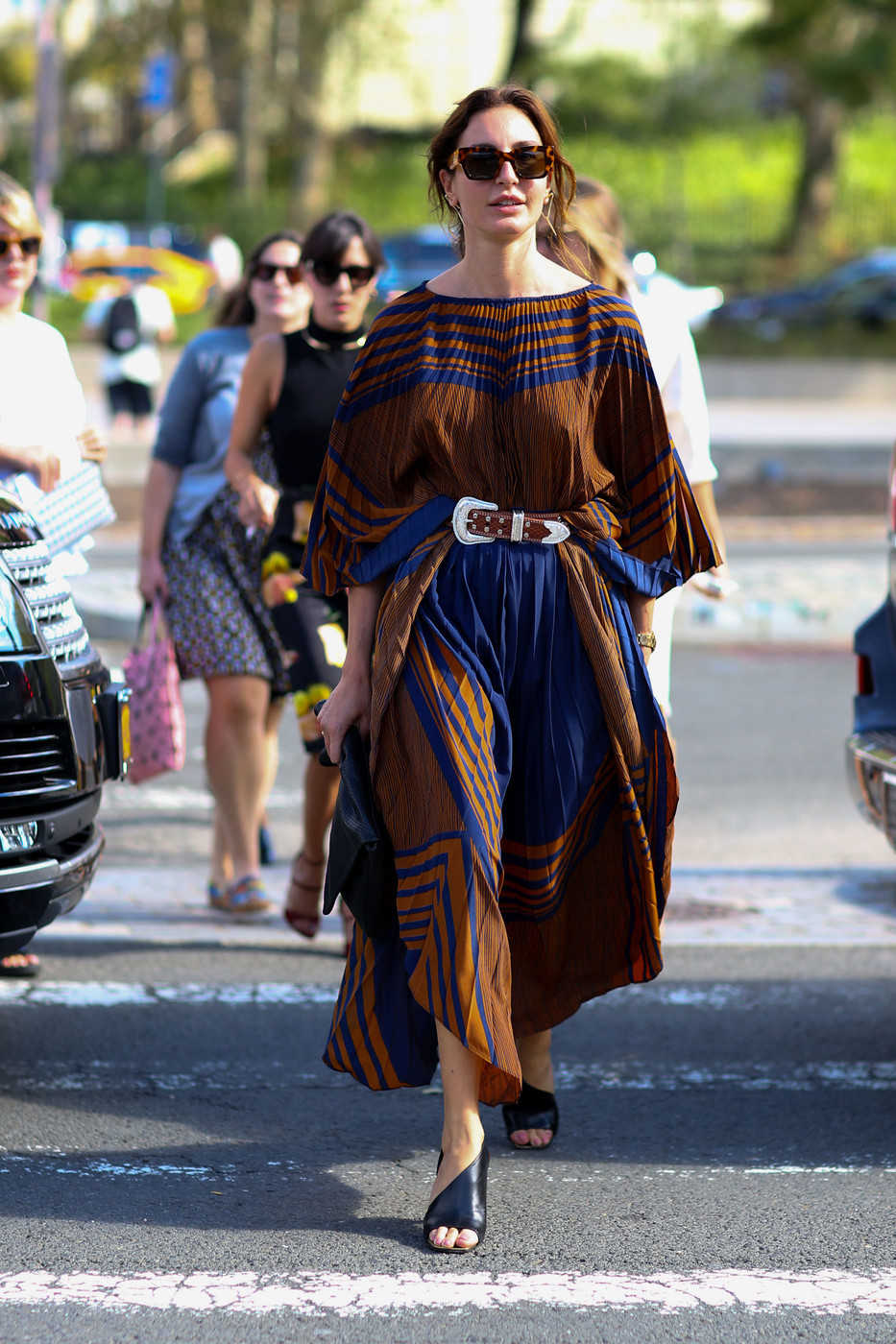 Belted Boho Dress The Best Street Style At New York Fashion Week Spring 2016 Livingly