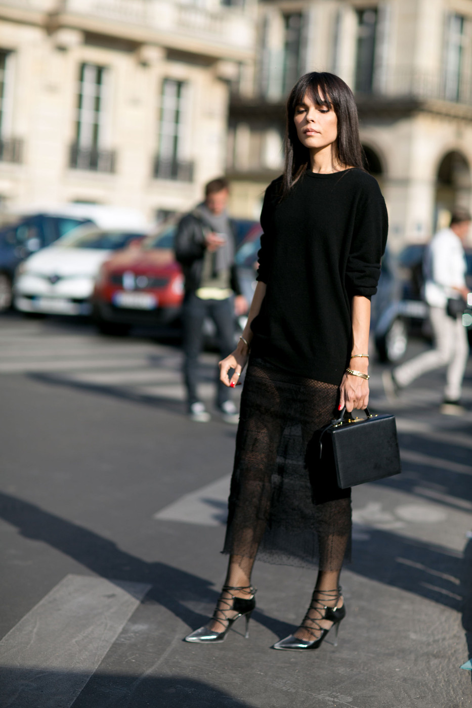 Sheer Chic The Best Street Style At Paris Fashion Week Spring 2016 Livingly