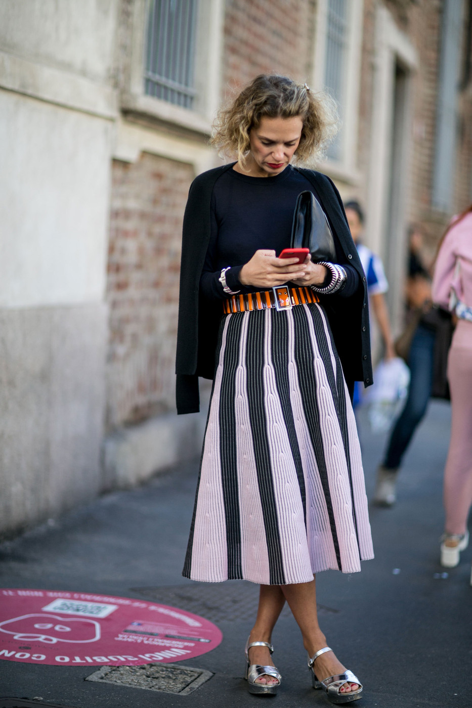 Shiny Shoes The Best Street Style At Milan Fashion Week Spring 2016 Livingly
