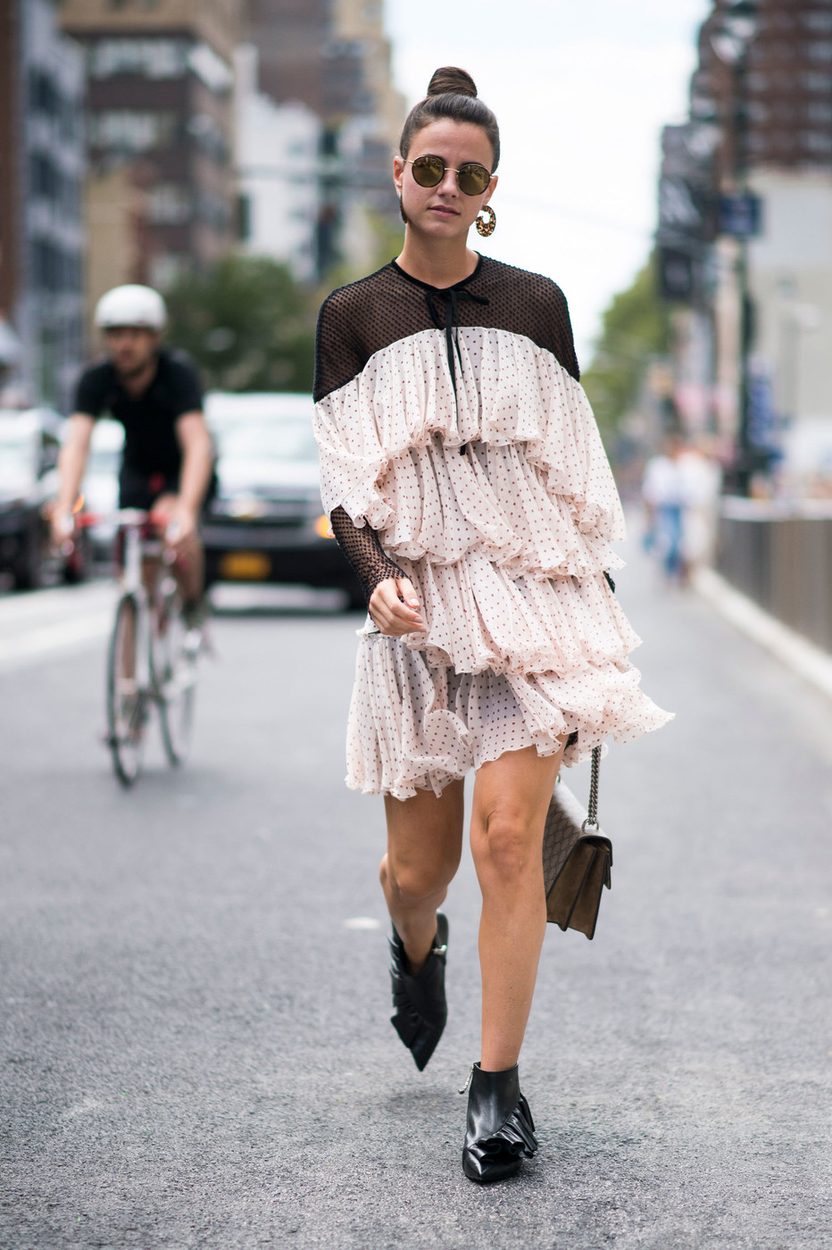 Major Ruffles The Most Inspiring Street Style At Nyfw Spring 2017 Livingly