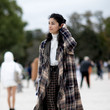 Fringed Plaid Coat