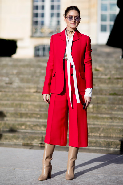 Olivia Palermo's Red Pantsuit