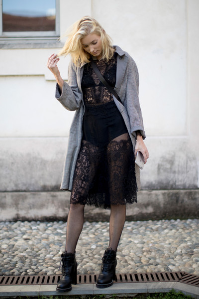 Sheer Lace and Moto Boots