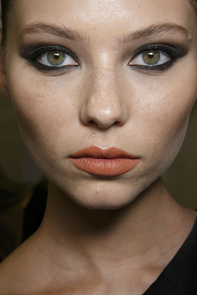 Stéphane Rolland at Couture Spring 2014 (Backstage) [couture spring 2014,face,eyebrow,lip,hair,cheek,skin,beauty,eye,chin,nose,lipstick,cream lipstick,lip velvet,stephane rolland,lips,color,lip,lip stain,beauty,lipstick,lips,color,dolce gabbana classic cream lipstick,kat von d everlasting liquid lipstick,lip stain,burberry lip velvet,nars lipstick,beauty,lip color]