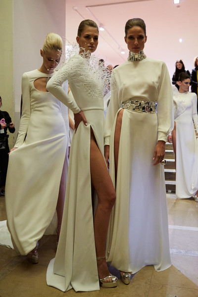 Stéphane Rolland at Couture Spring 2020 (Backstage) [clothing,dress,gown,fashion,event,tradition,formal wear,outerwear,fashion design,haute couture,gown,dress,stephane rolland,socialite,haute couture,fashion,wedding dress,model,couture spring 2020,fashion show,fashion show,wedding dress,haute couture,st\u00e9phane rolland,fashion,model,gown,socialite,seam,2020]