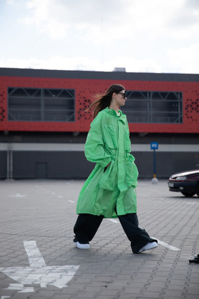 Theo at New York Spring 2022 [sky,cloud,sunglasses,tire,asphalt,street fashion,road surface,jacket,road,electric blue,outerwear,shoe,theo,fashion,costume,street fashion,road surface,jacket,road,new york fashion week,fashion,shoe,costume,outerwear / m,green,road,outerwear,pleasant]